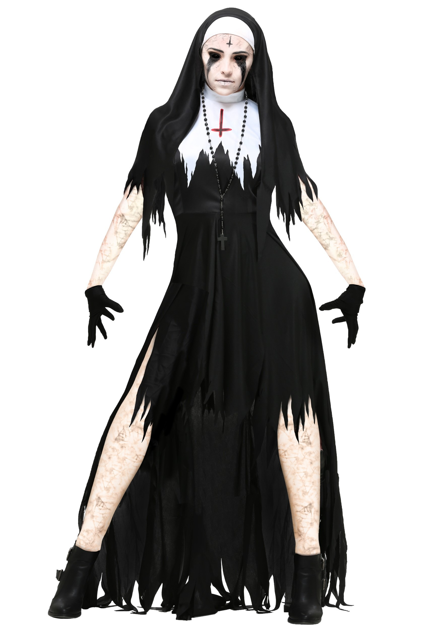 Dreadful Nun Costume for Women