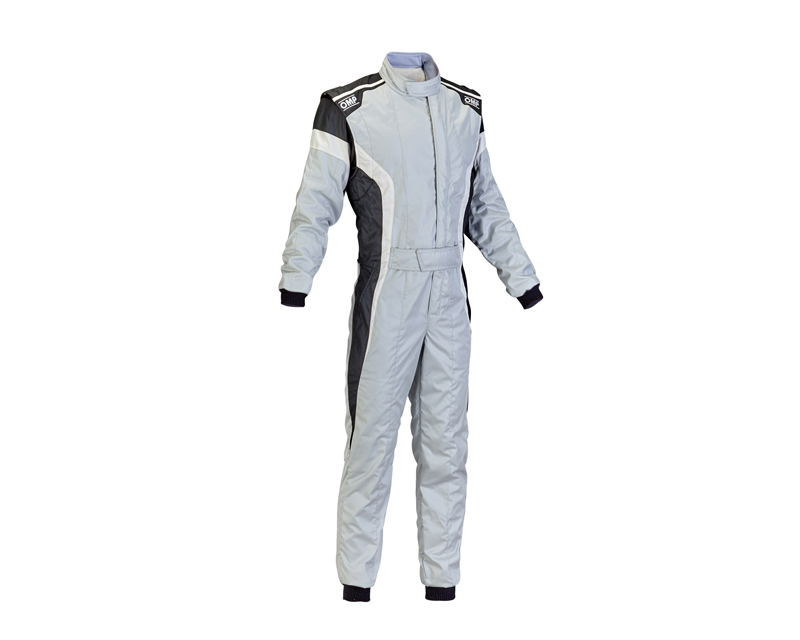 OMP Racing IA0185008952 FIA 2 Layer Tecnica-S Racing Suit Grey, White and Black: 52