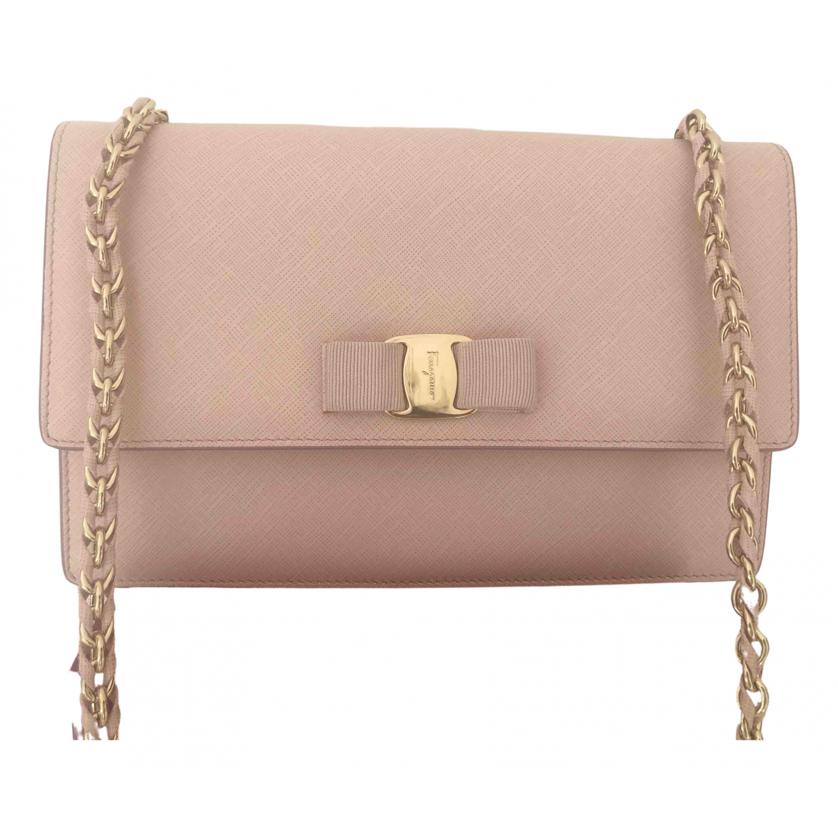 Salvatore Ferragamo \N Pink Leather handbag for Women \N