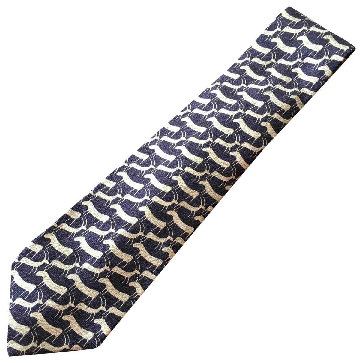 Bvlgari \N Blue Silk Ties for Men \N