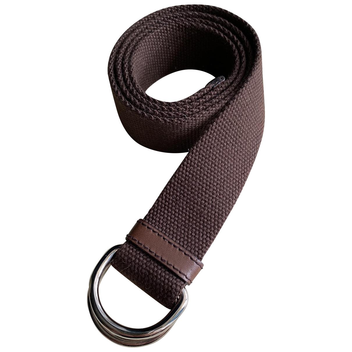 Church's \N Brown Cloth belt for Men 80 cm