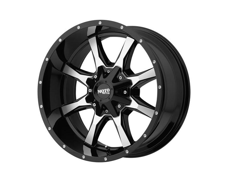 Moto Metal MO97068078300US MO970 Wheel 16x8 6x120/6x139.7 0 Gloss Black Machined Face