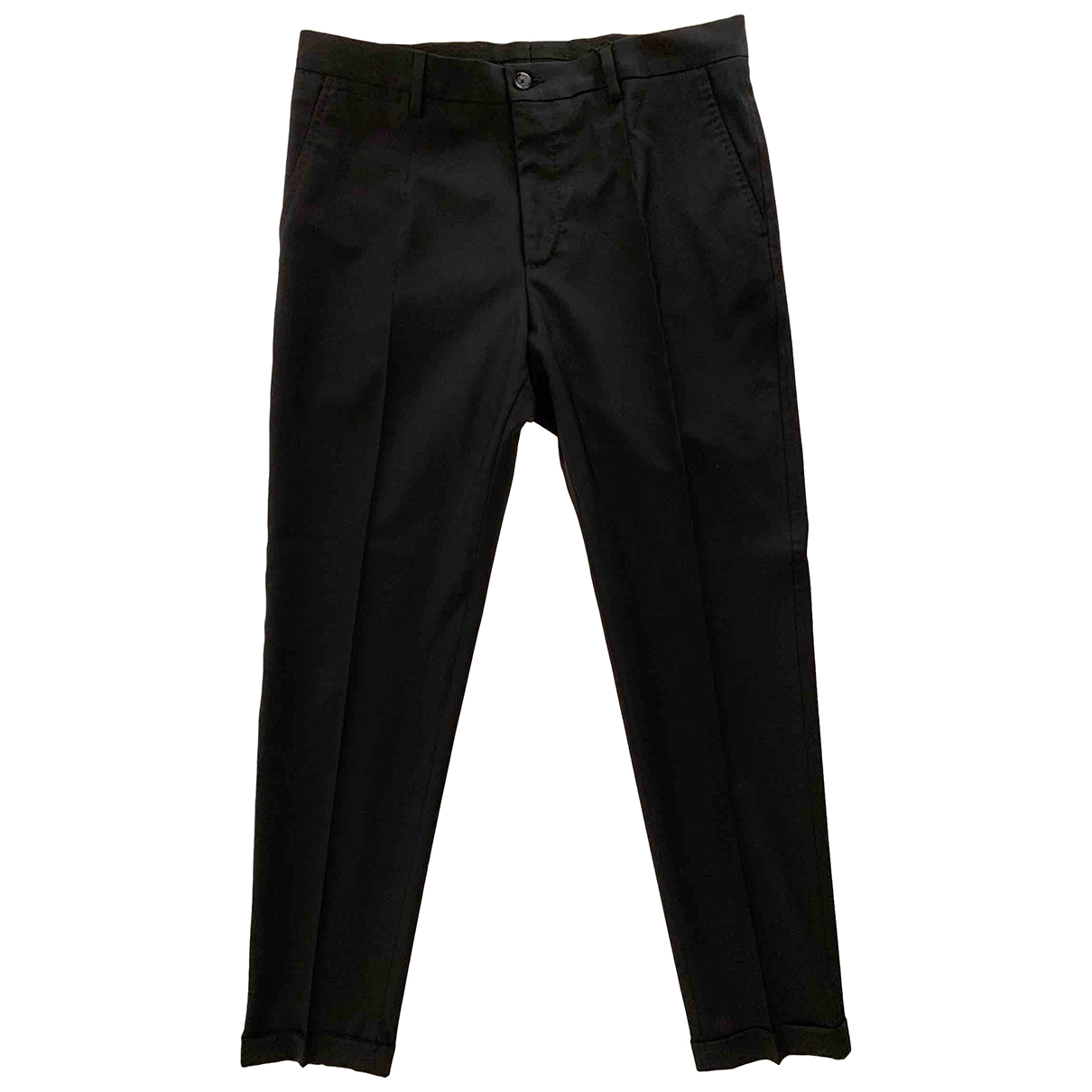 Dolce & Gabbana \N Black Wool Trousers for Men 46 IT