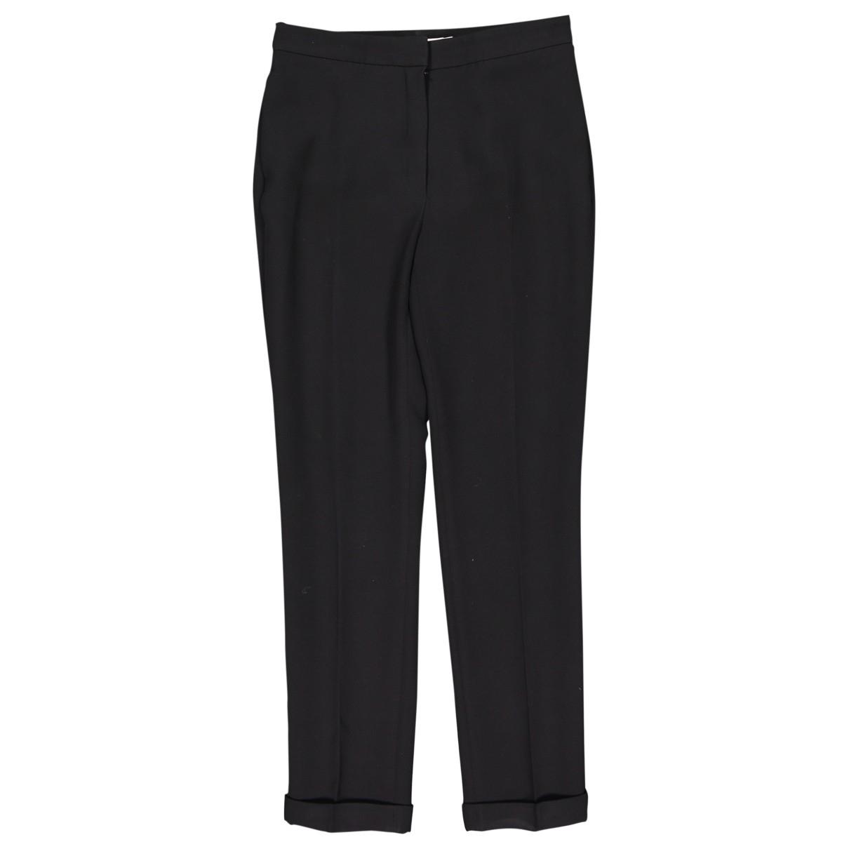 Dior \N Black Silk Trousers for Women 36 FR