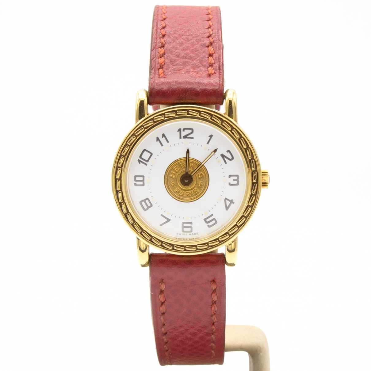 Hermès Sellier Gold Yellow gold watch for Women \N