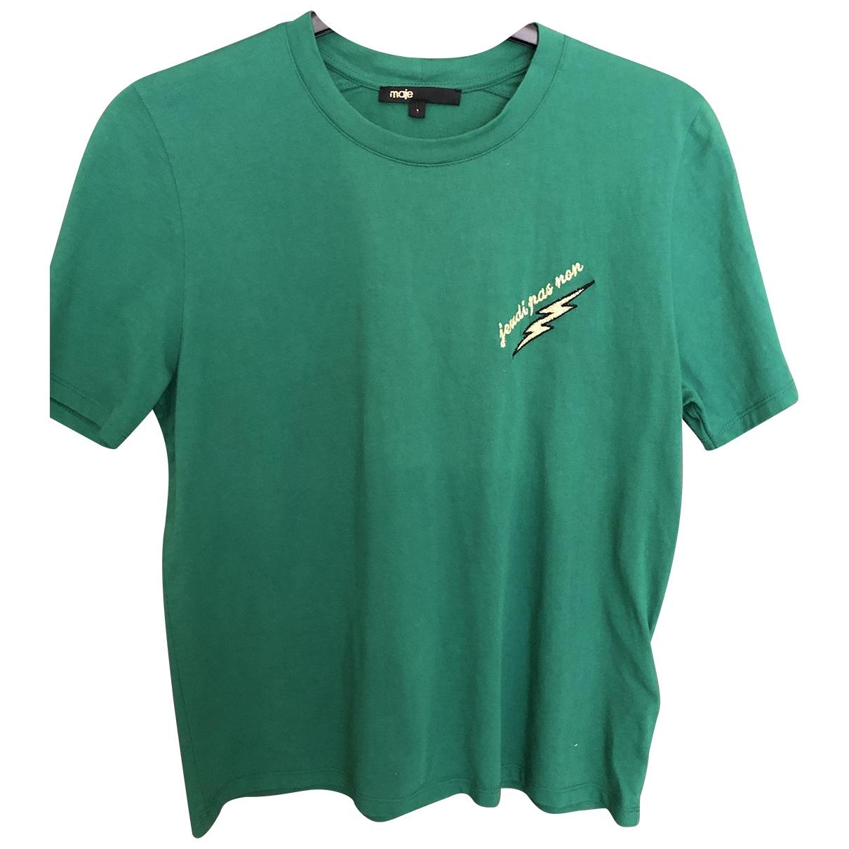 Maje \N Green Cotton  top for Women 1 0-5