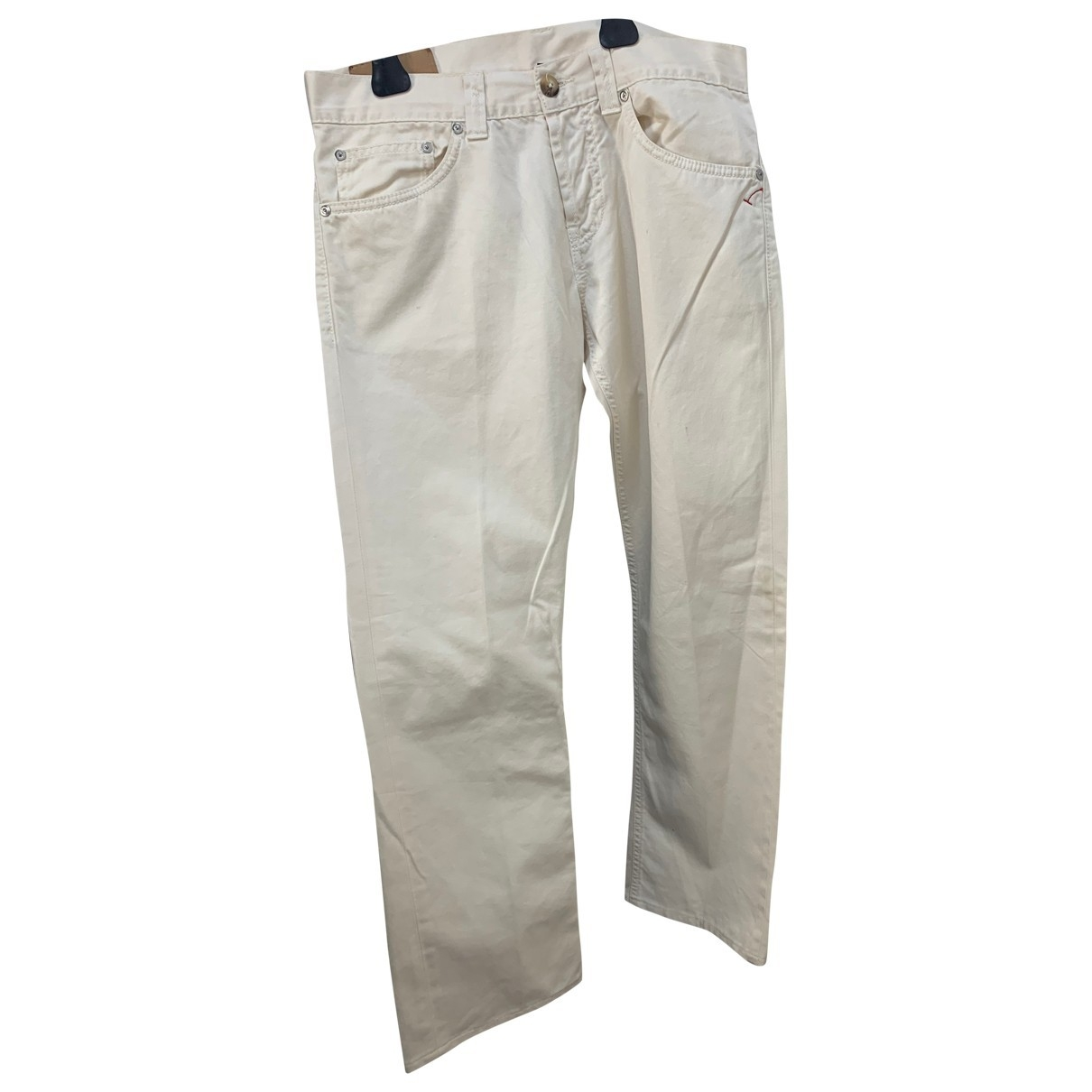 Dondup \N White Cotton Trousers for Men 32 UK - US
