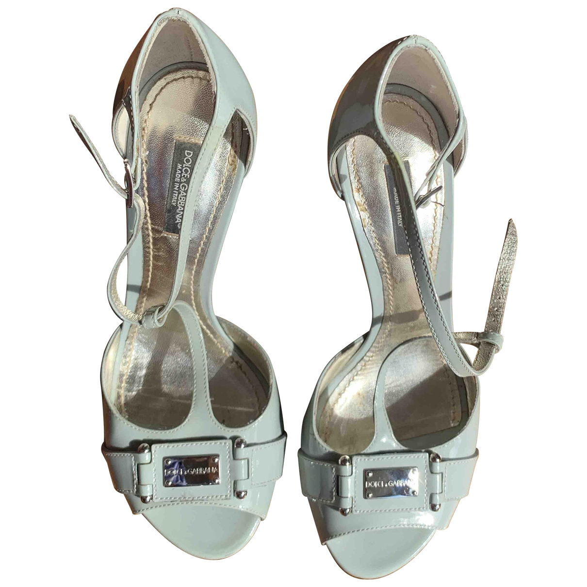 Dolce & Gabbana \N Grey Patent leather Sandals for Women 37 EU