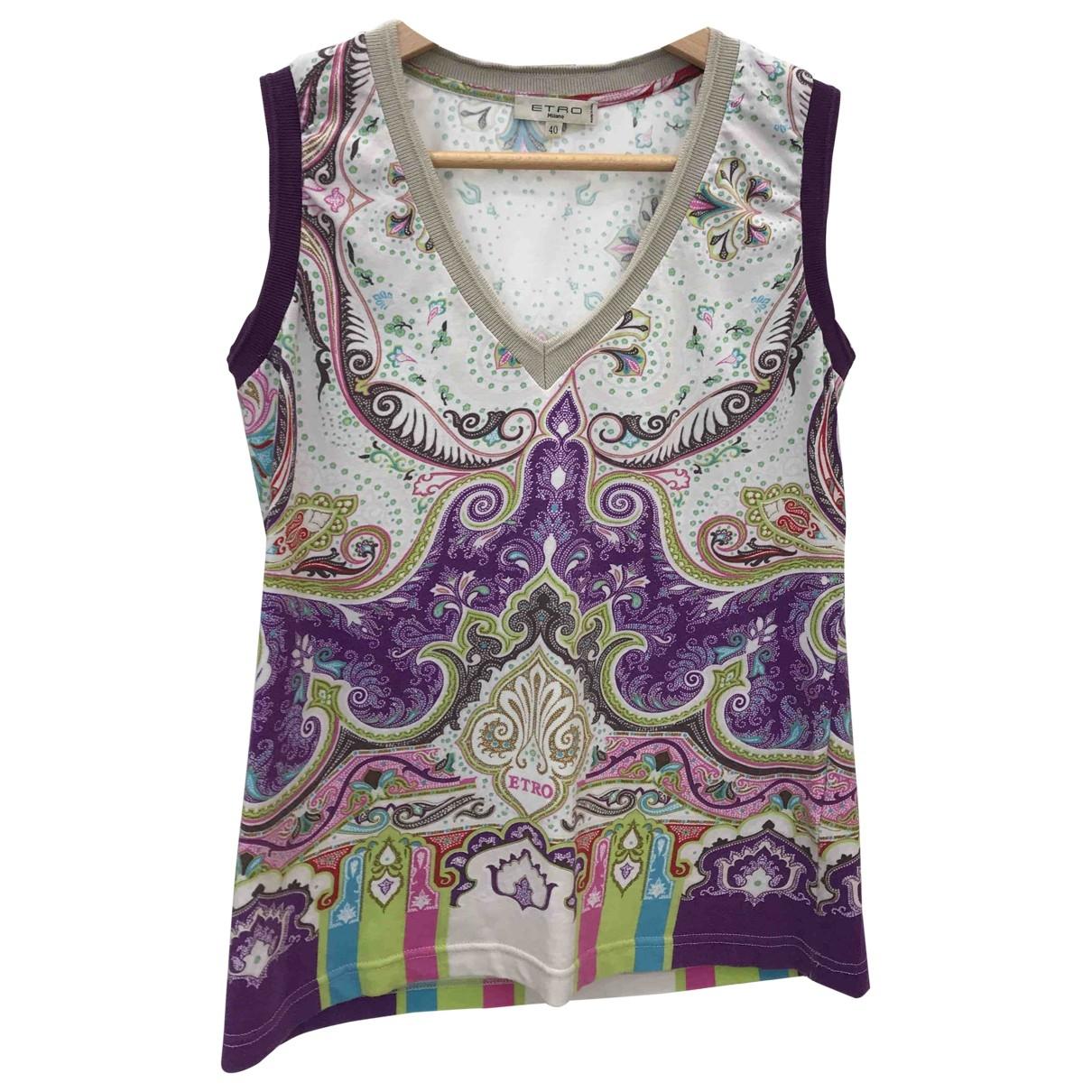 Etro \N Multicolour Cotton  top for Women 40 IT