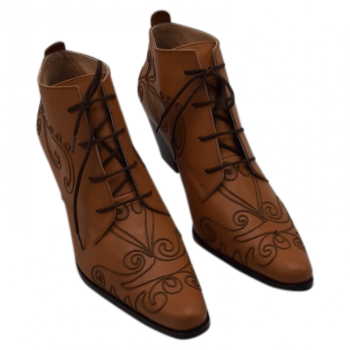 Non Signé / Unsigned \N Leather Boots for Women 39 EU
