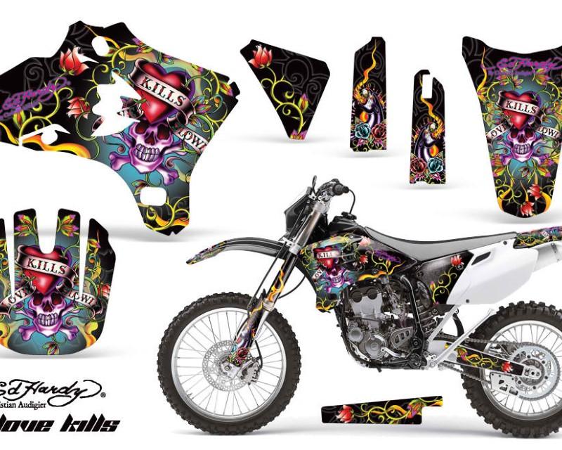 AMR Racing Dirt Bike Graphics Kit Decal Wrap For Yamaha YZ250F YZ450F 2003-2005áEDHLK BLACK