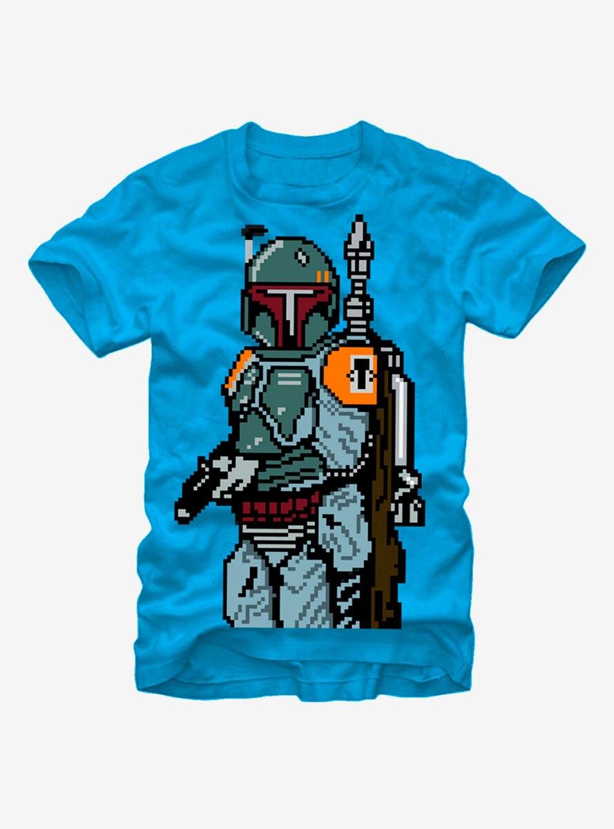 Star Wars Pixel Boba Fett Bounty Hunter T-Shirt