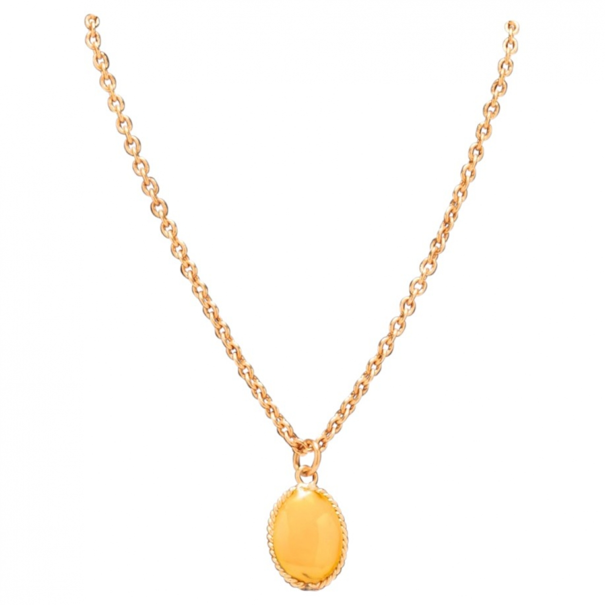 Marguerite De Valois \N Yellow Glass necklace for Women \N