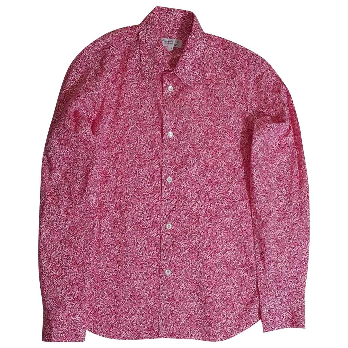 Agnès B. \N Pink Cotton Shirts for Men M International