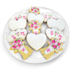 Cookie Wedding Favor Tray