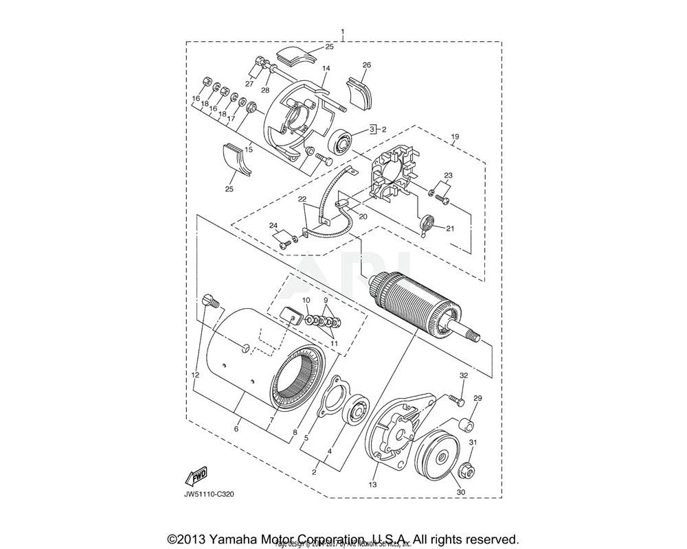 Yamaha OEM J10-81145-10-00 SCREW 1
