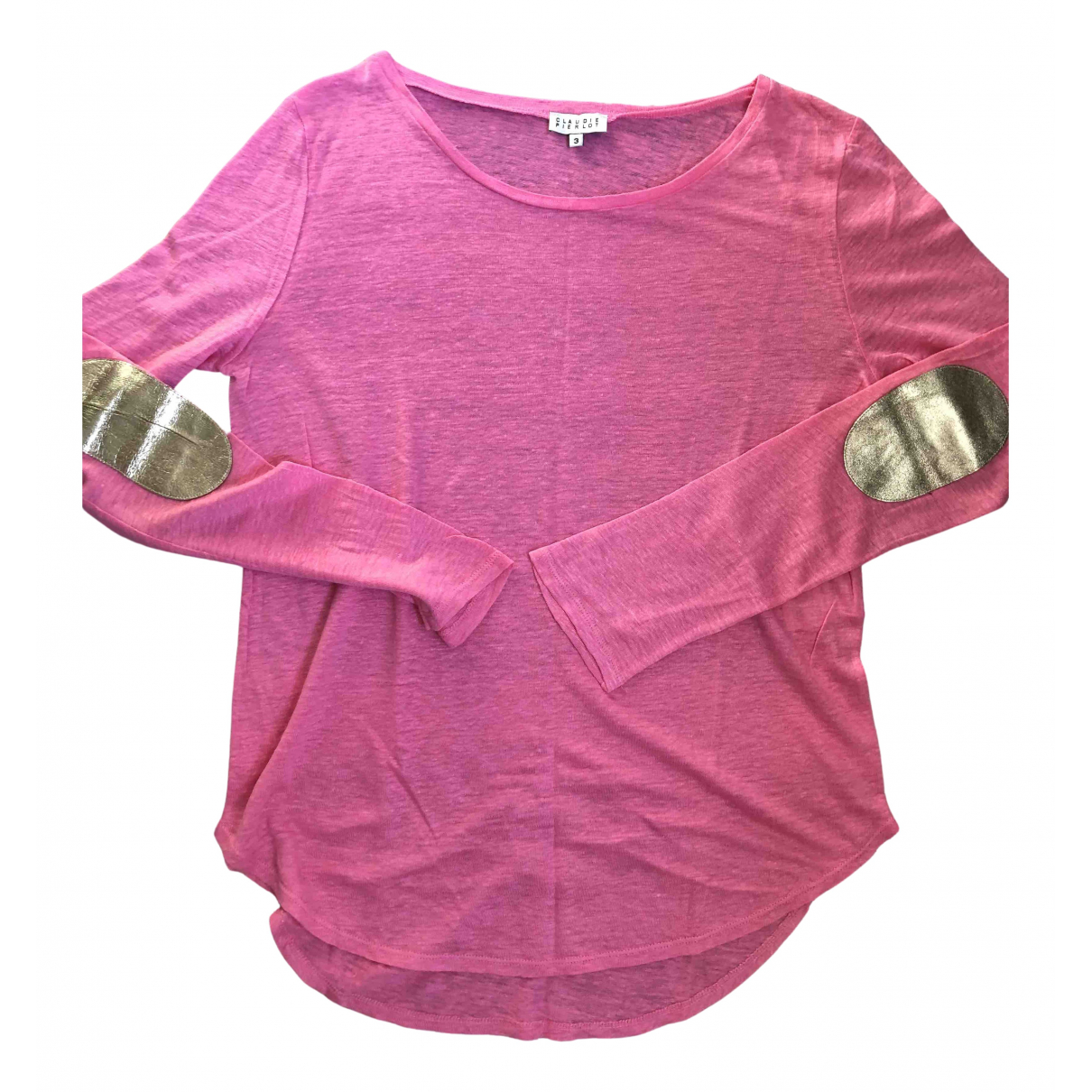 Claudie Pierlot Spring Summer 2019 Pink Linen  top for Women 3 0-5