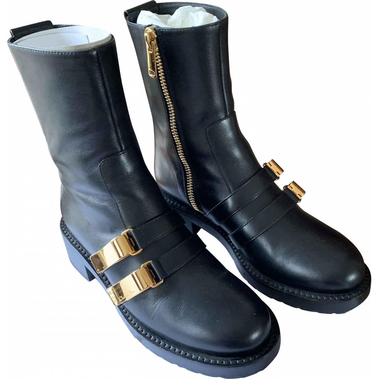 Dior \N Black Leather Ankle boots for Women 37.5 EU