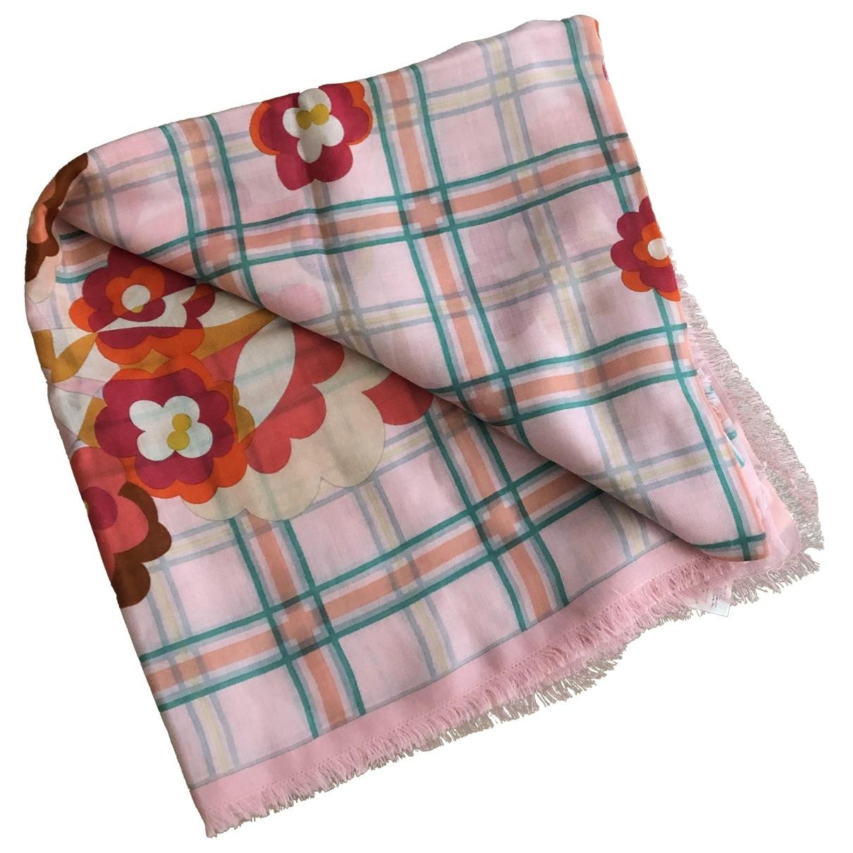 Fendi \N Pink Silk scarf for Women \N