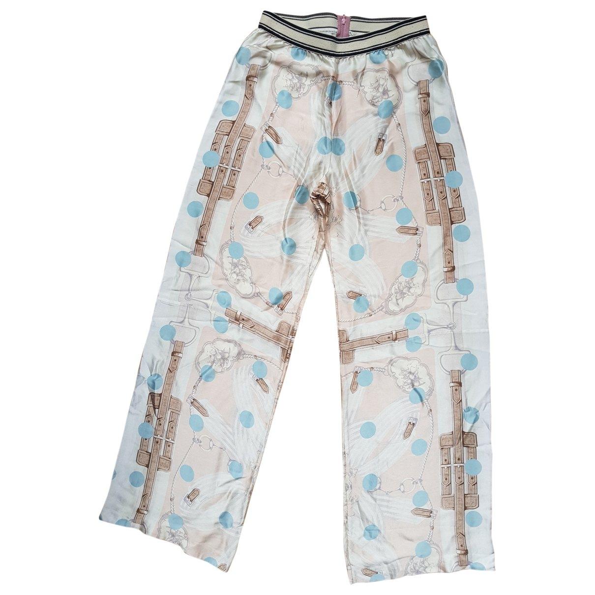 Weber \N Multicolour Silk Trousers for Women 42 IT