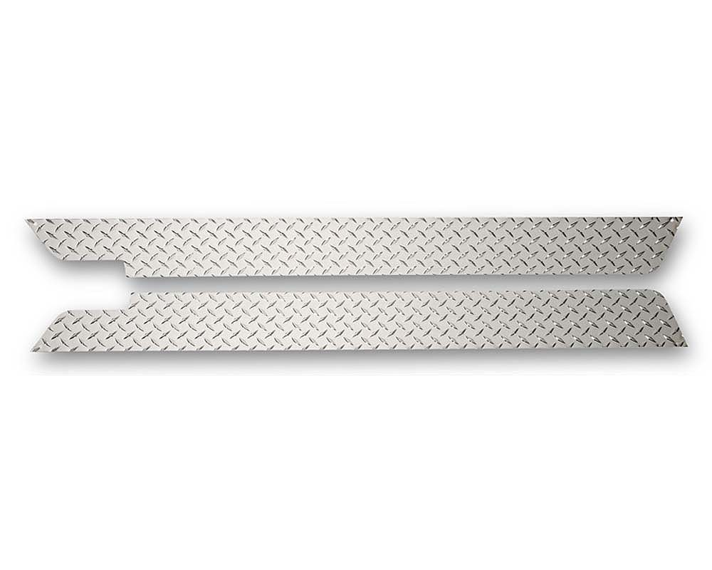 Warrior Products 912PC Sideplates Aluminum Diamond Plate Finish Jeep CJ2 | CJ3 45-55