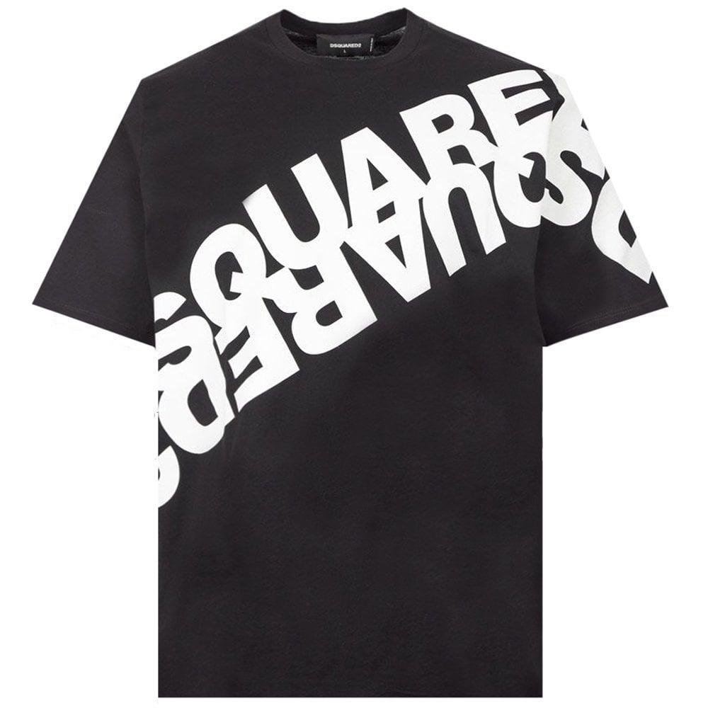 Dsquared2 Mirror Effect T-shirt Colour: BLACK, Size: LARGE