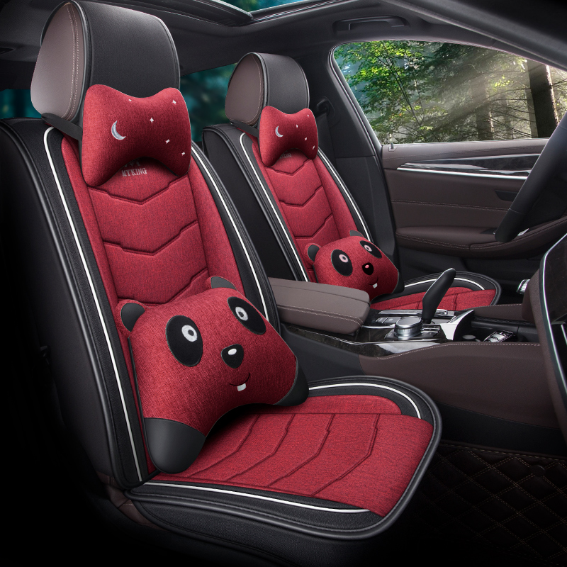 Breathable Fabric Wear-resistant Linen Materials Wear-resisting Scratch No Peculiar Smell Fresh Breathable Not Stuffy Airbag Compatible 5-seater Unive