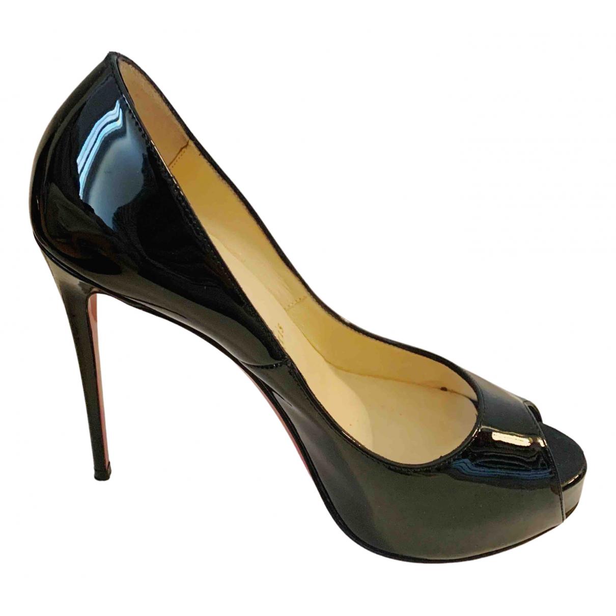 Christian Louboutin Very Privé Black Patent leather Heels for Women 35 EU