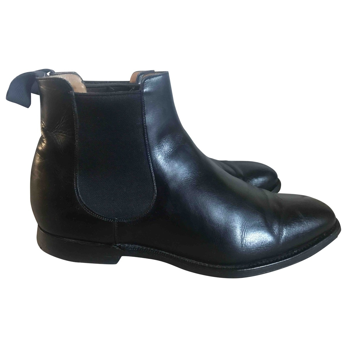 Church's \N Black Leather Boots for Men 39 EU