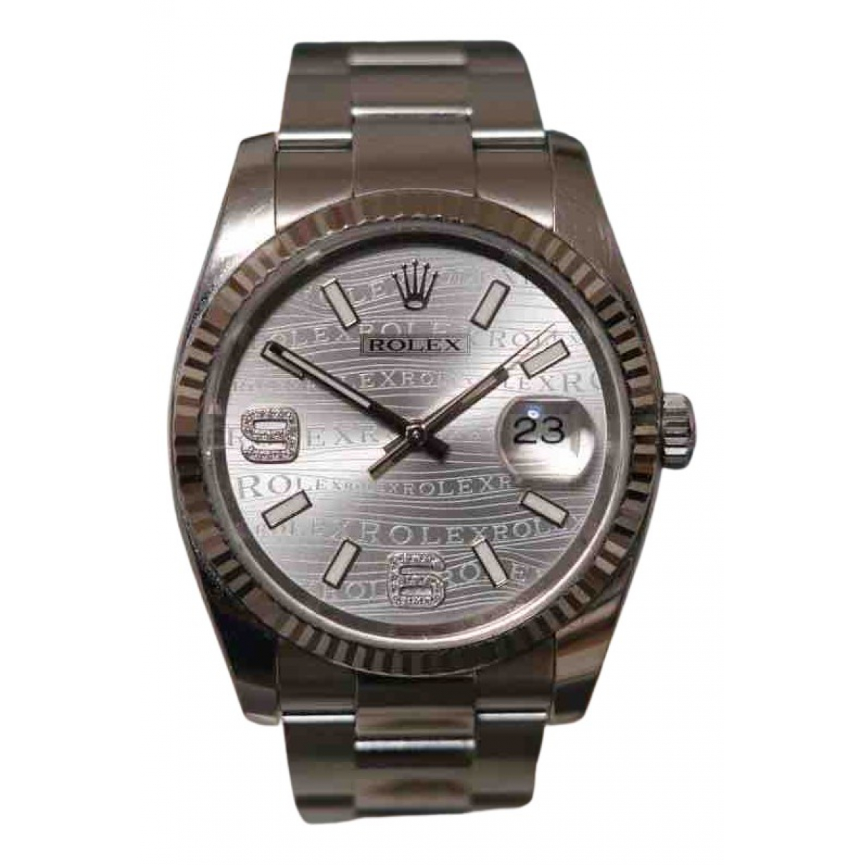 Rolex Oyster Perpetual 36mm Silver gold and steel watch for Women N