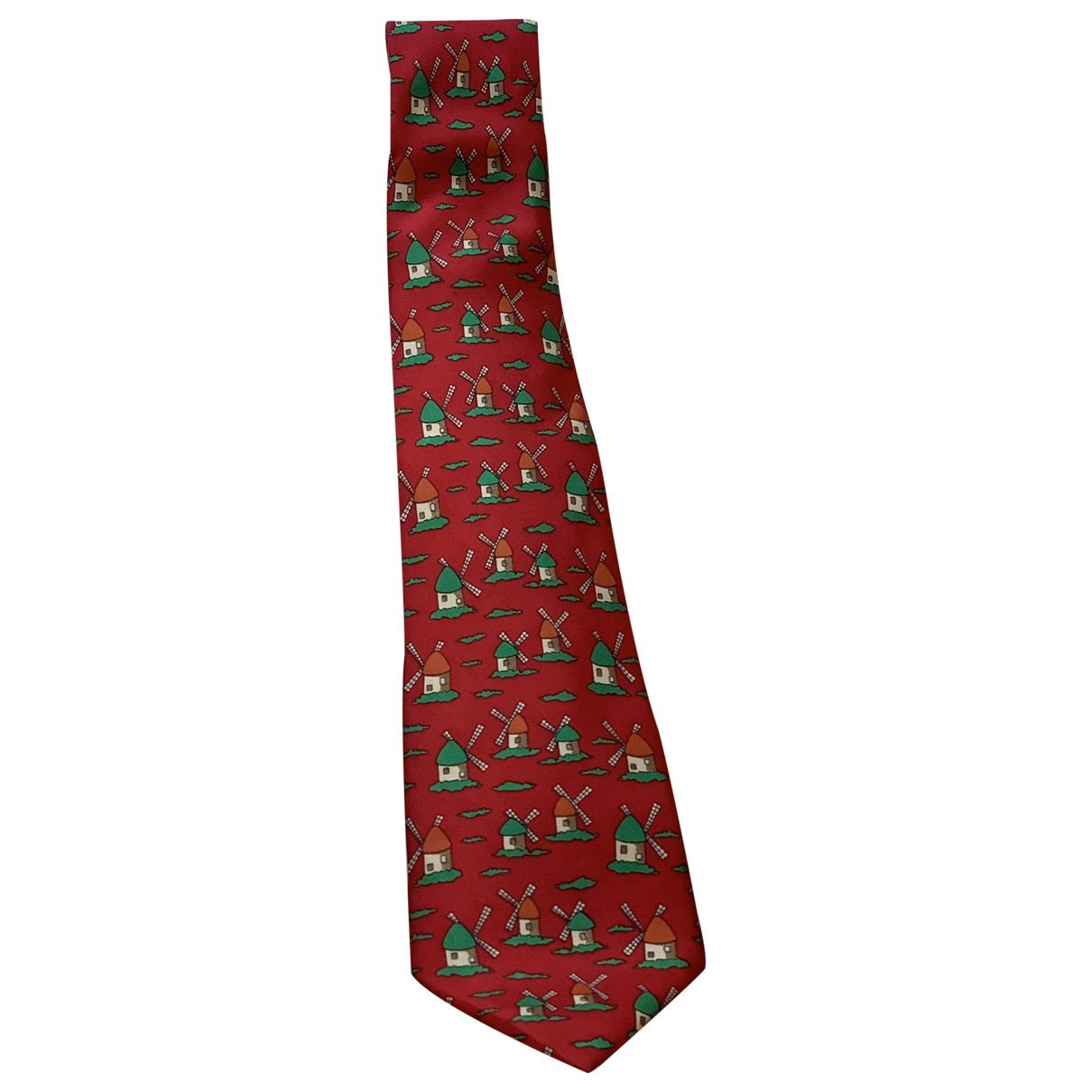 Hermès \N Red Silk Ties for Men \N