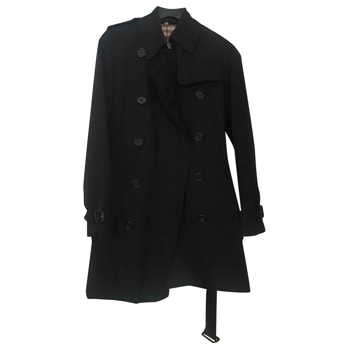 Burberry \N Black Cotton Trench coat for Women 36 IT