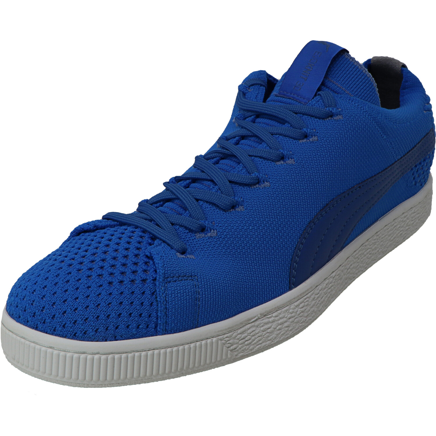Puma Men's Basket Evoknit 3D Electric Blue Lemo / Yonder White Ankle-High Sneaker - 11M