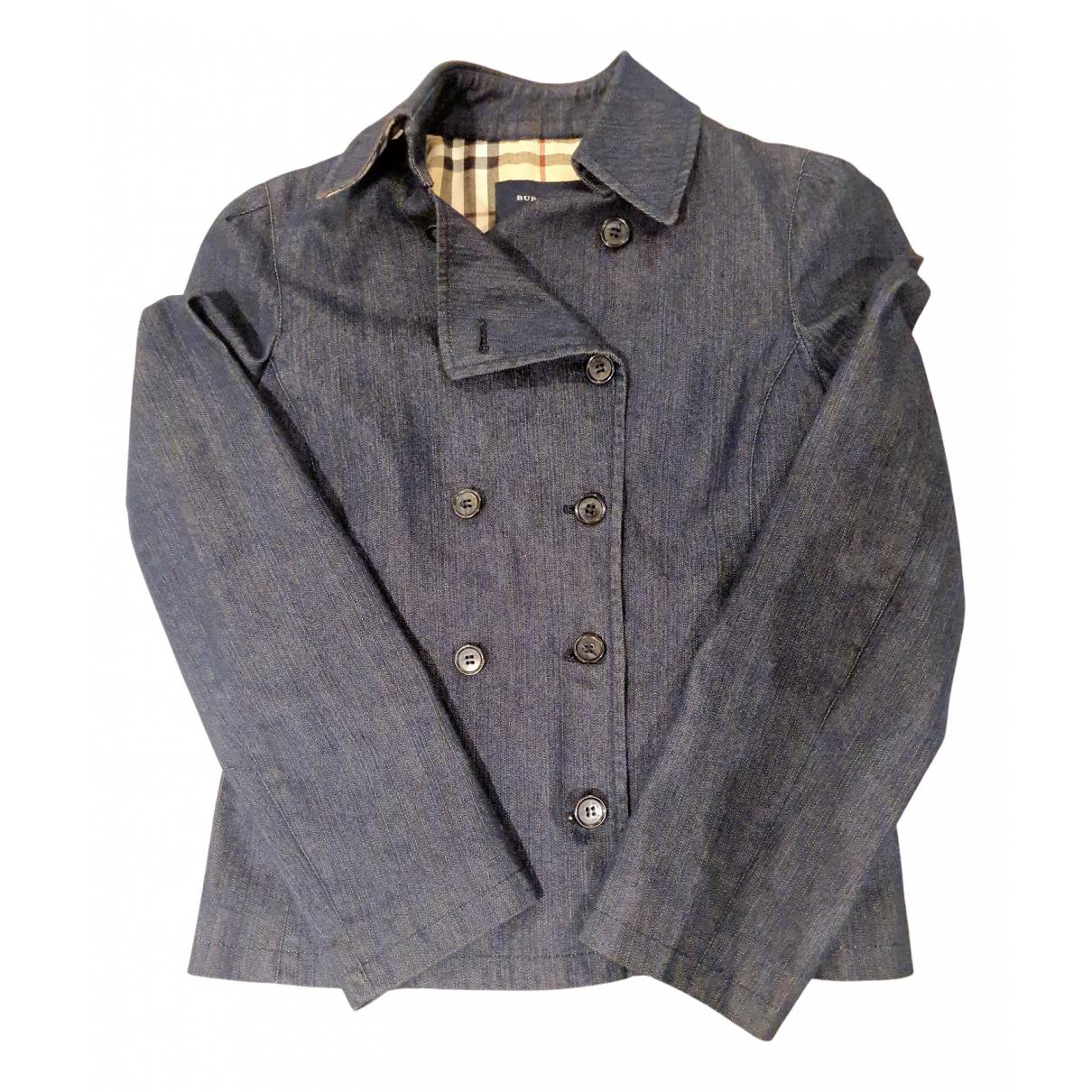 Burberry N Blue Cotton coat for Women 38 FR