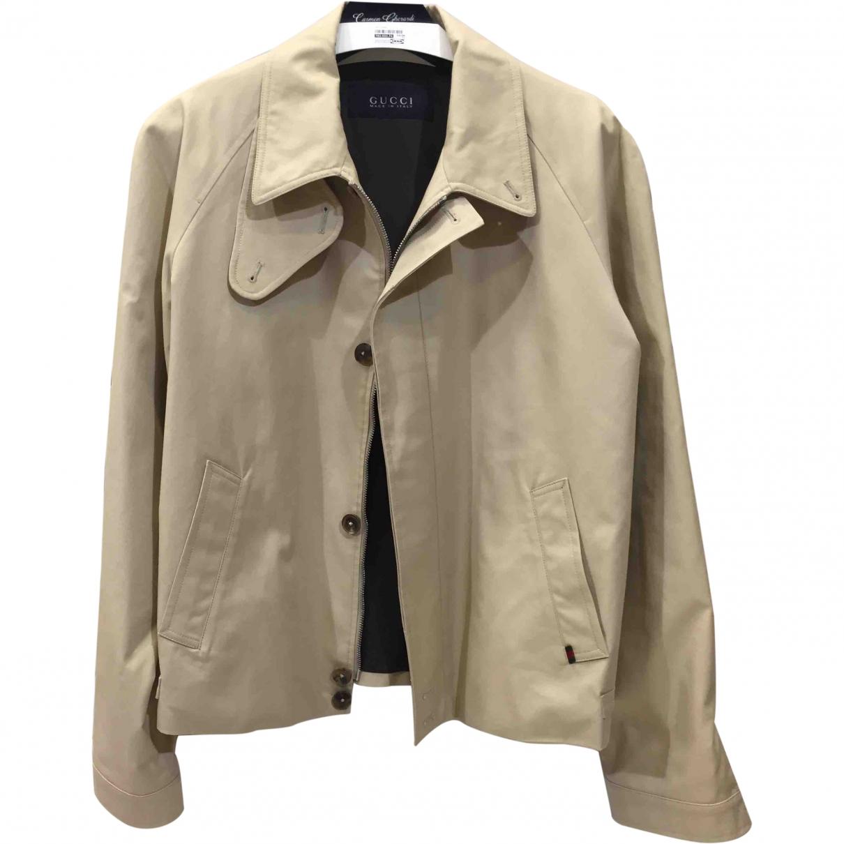Gucci \N Beige Cotton jacket for Women 48 IT