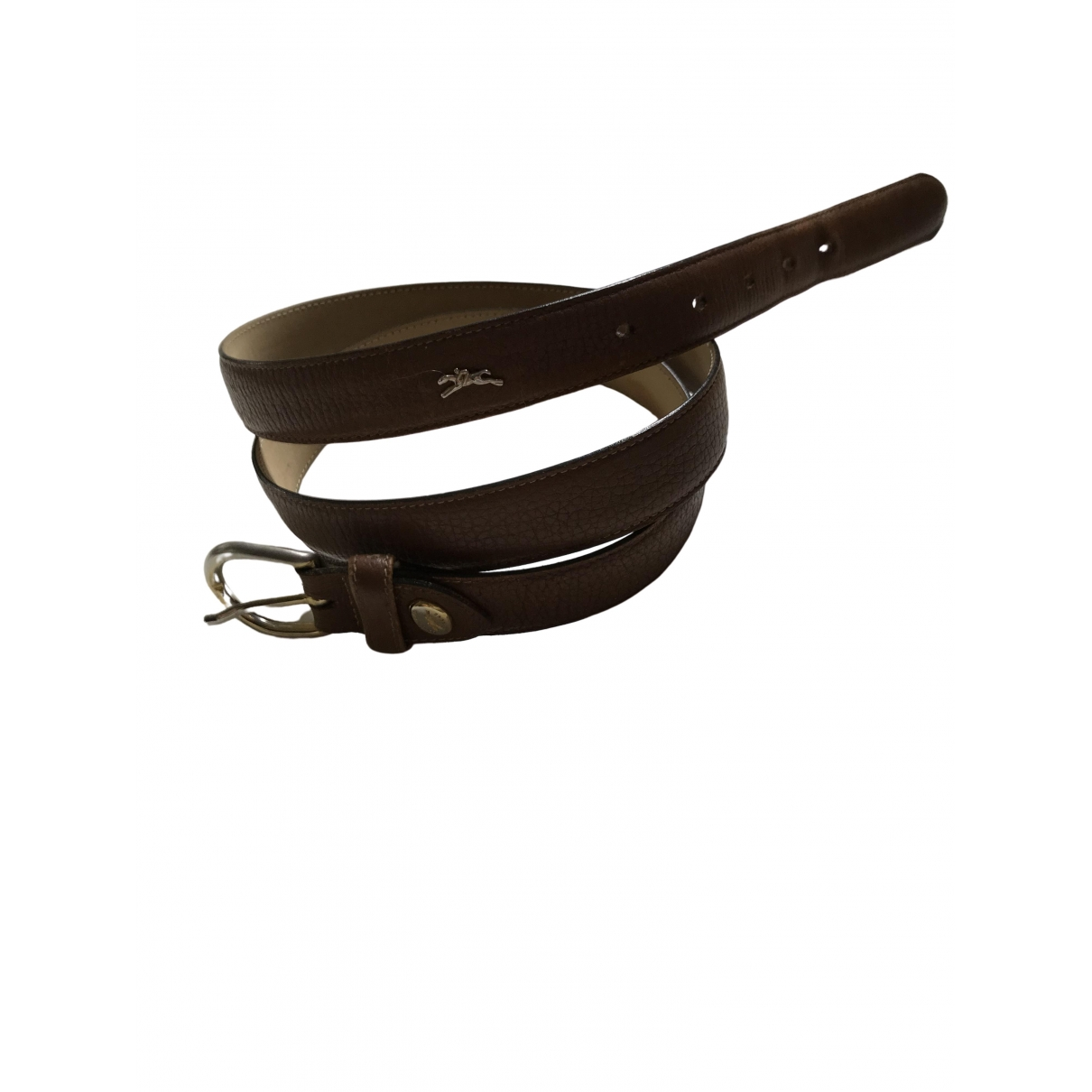 Longchamp \N Beige Leather belt for Women L International