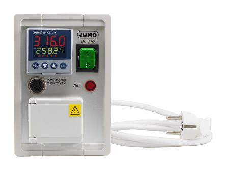 Jumo dTRON PID Temperature Controller, 170 x 108mm Analogue Input, 3 Output Relay, 230 V ac Supply Voltage PID
