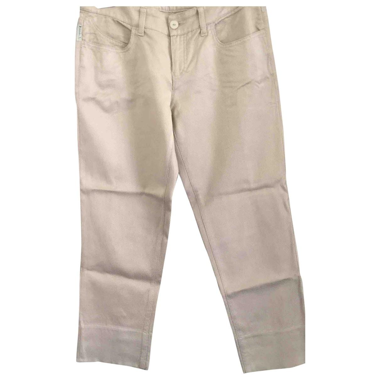 Armani Jeans \N Beige Trousers for Women 42 IT