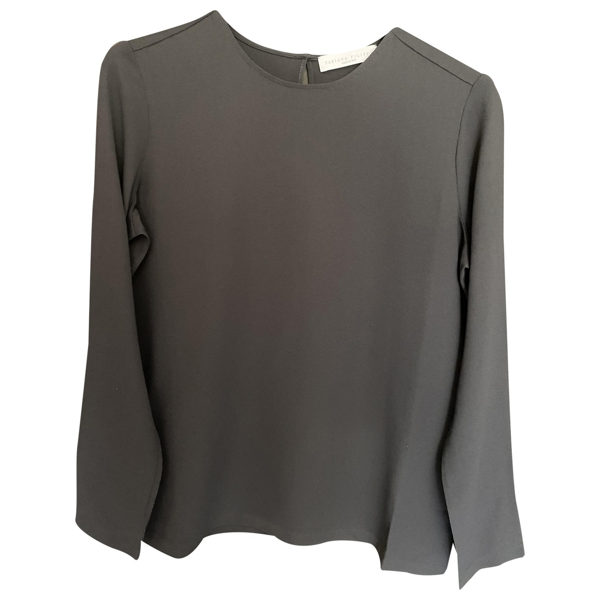 Fabiana Filippi \N Anthracite Silk  top for Women 38 IT