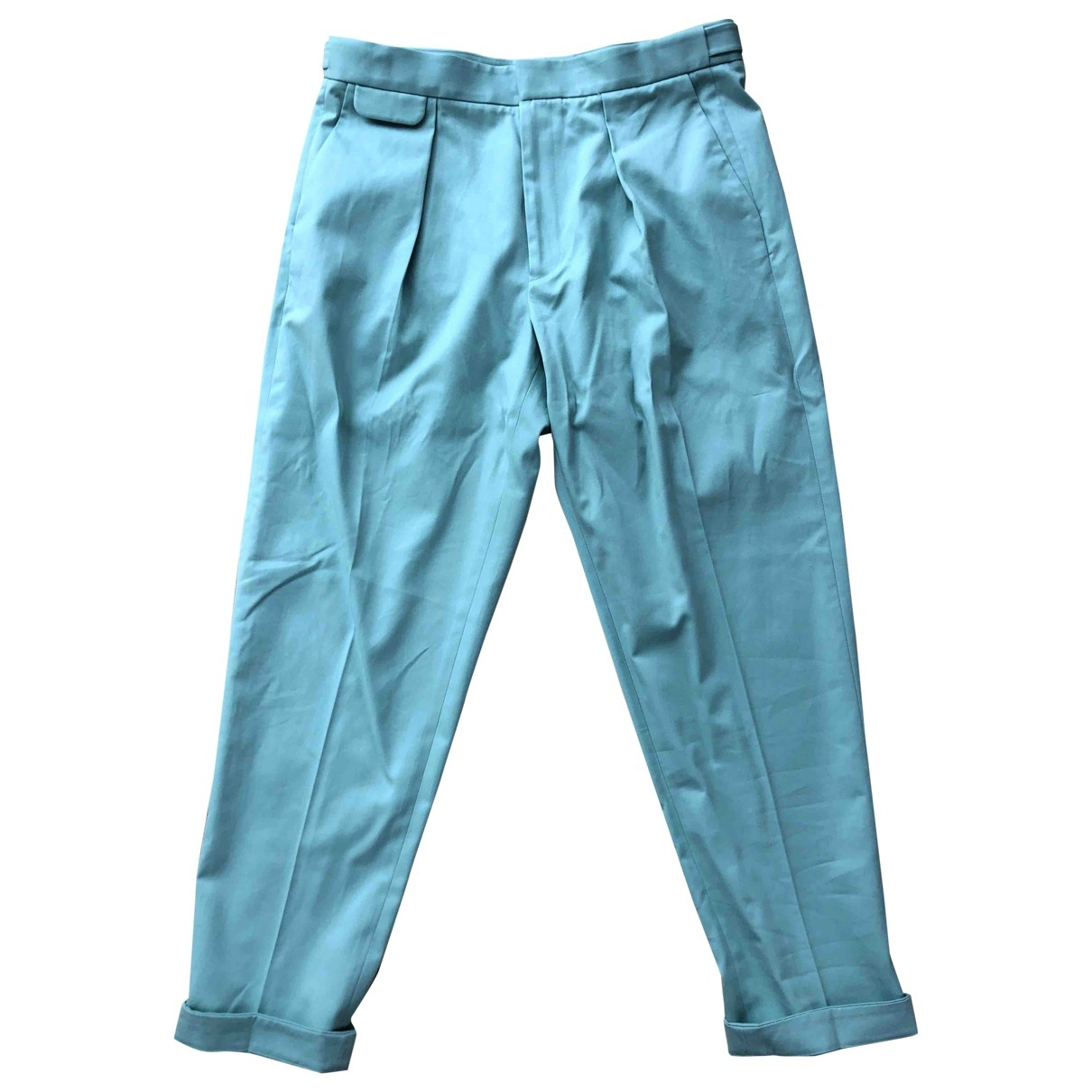Equipment \N Green Cotton Trousers for Women 4 US