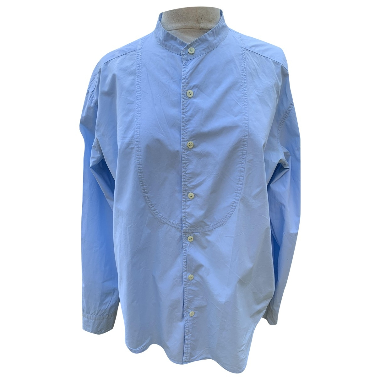 Zadig & Voltaire \N Blue Cotton Shirts for Men L International