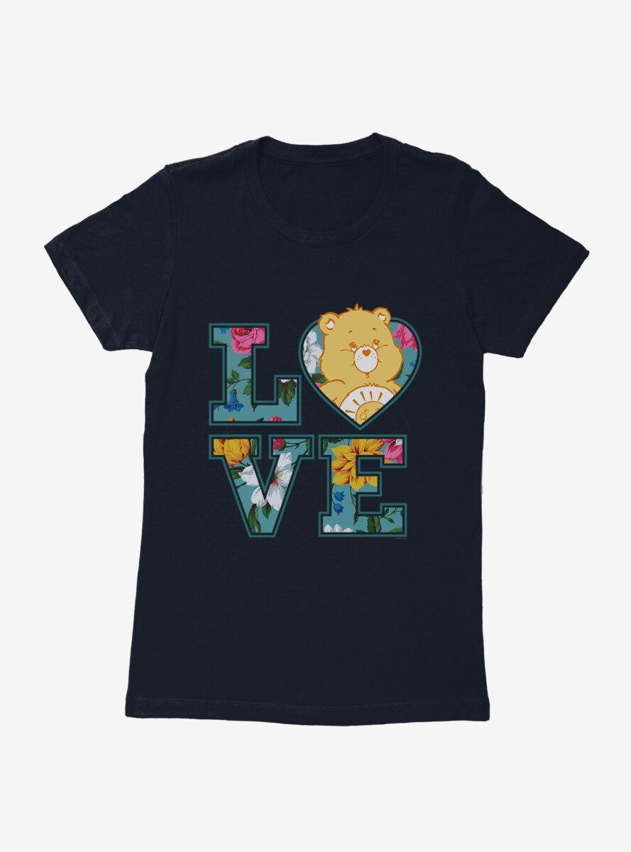 Care Bears Funshine Bear Love Script Womens T-Shirt