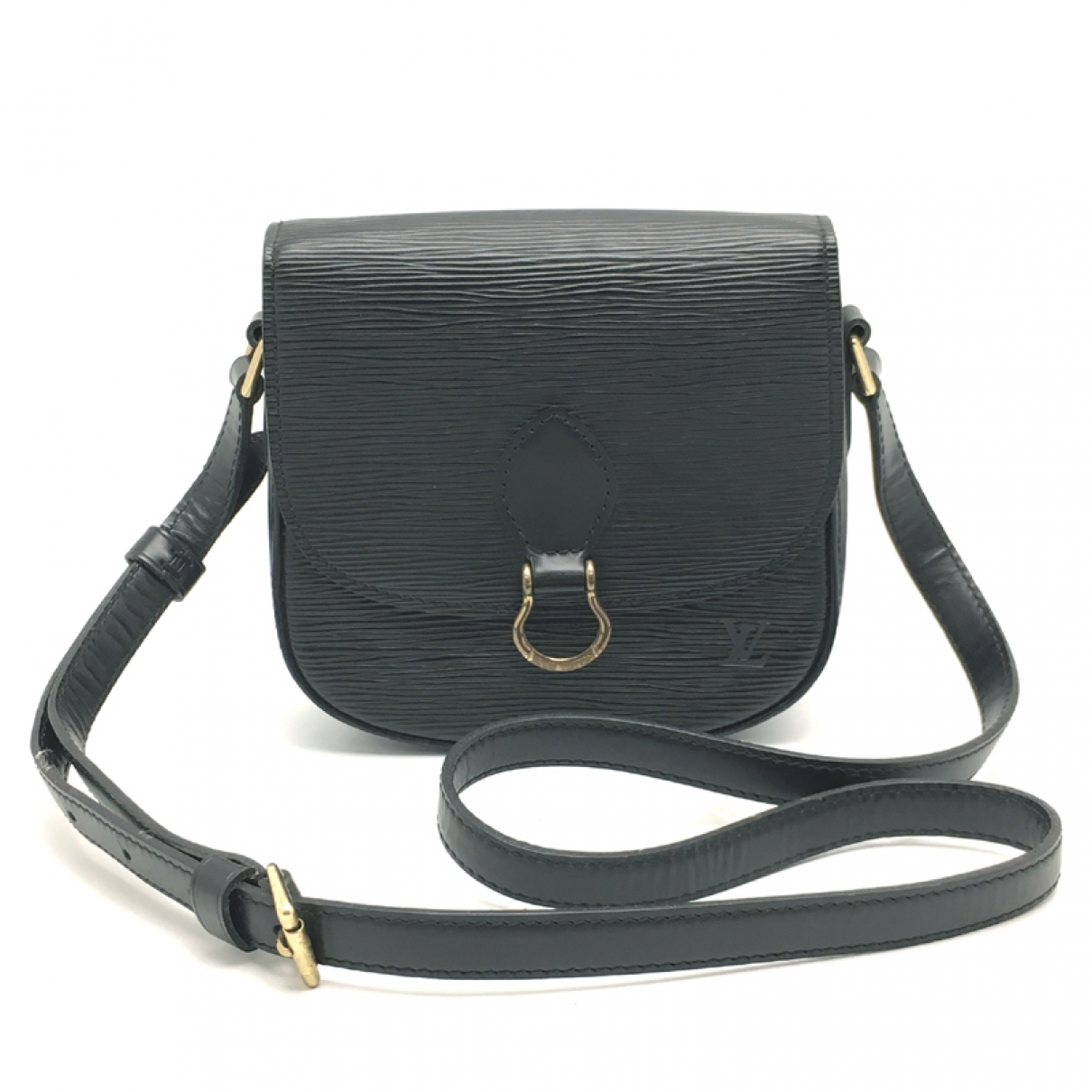 Louis Vuitton Saint Cloud vintage Black Leather handbag for Women \N