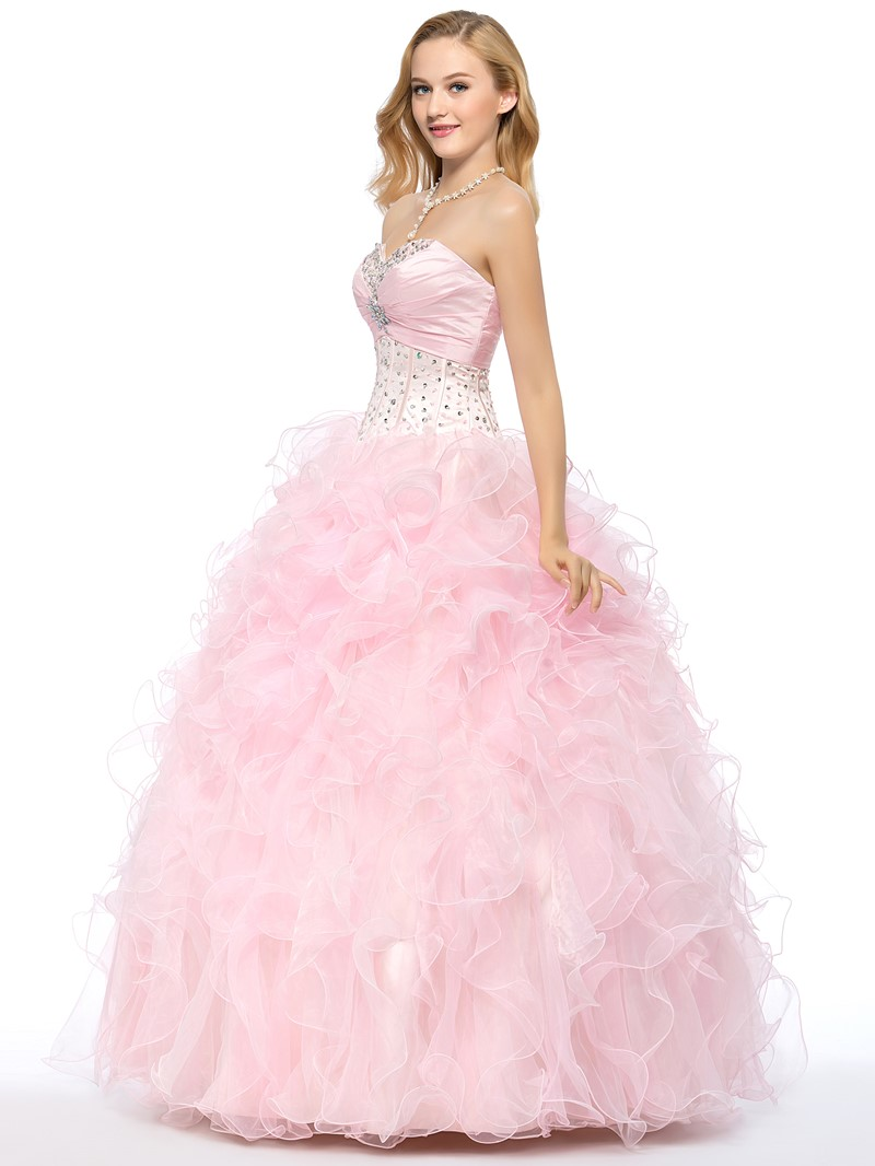 A-line Sweetheart Beading Quinceanera Dress