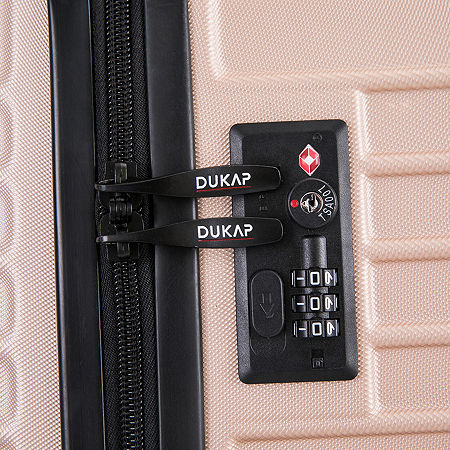 Dukap Tour 24 Inch Hardside Lightweight Luggage, One Size , Beige
