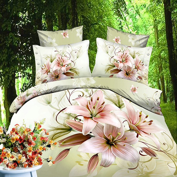 Pretty Flower Fairy 4 Piece Polyester Bedding Sets