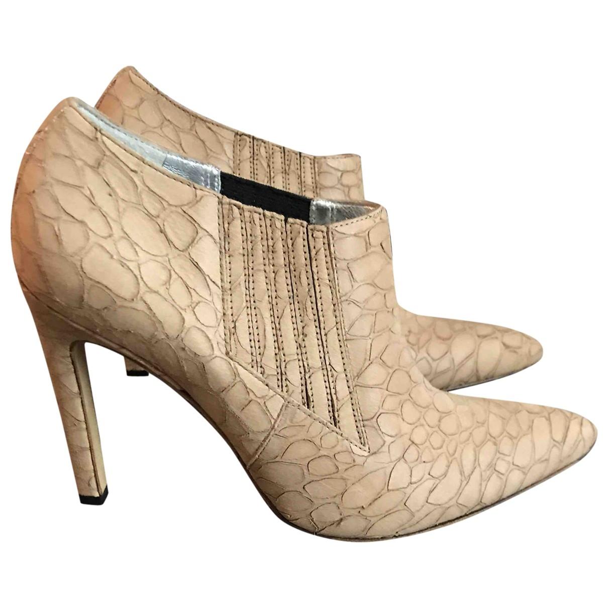Free Lance \N Beige Leather Heels for Women 38 EU