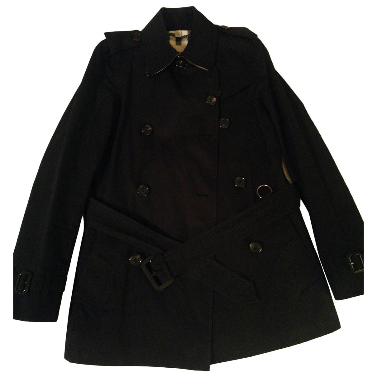 Burberry \N Black Cotton Trench coat for Women 4 UK