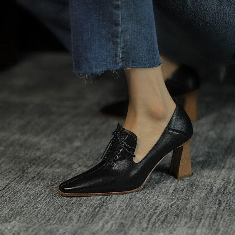 Ericdress Pointed Toe Slip-On Chunky Heel Casual Thin Shoes
