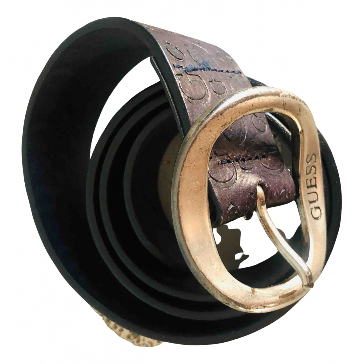 Guess \N Black Leather belt for Women M International